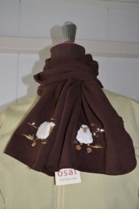 Šal Novelty Sheep Scarf